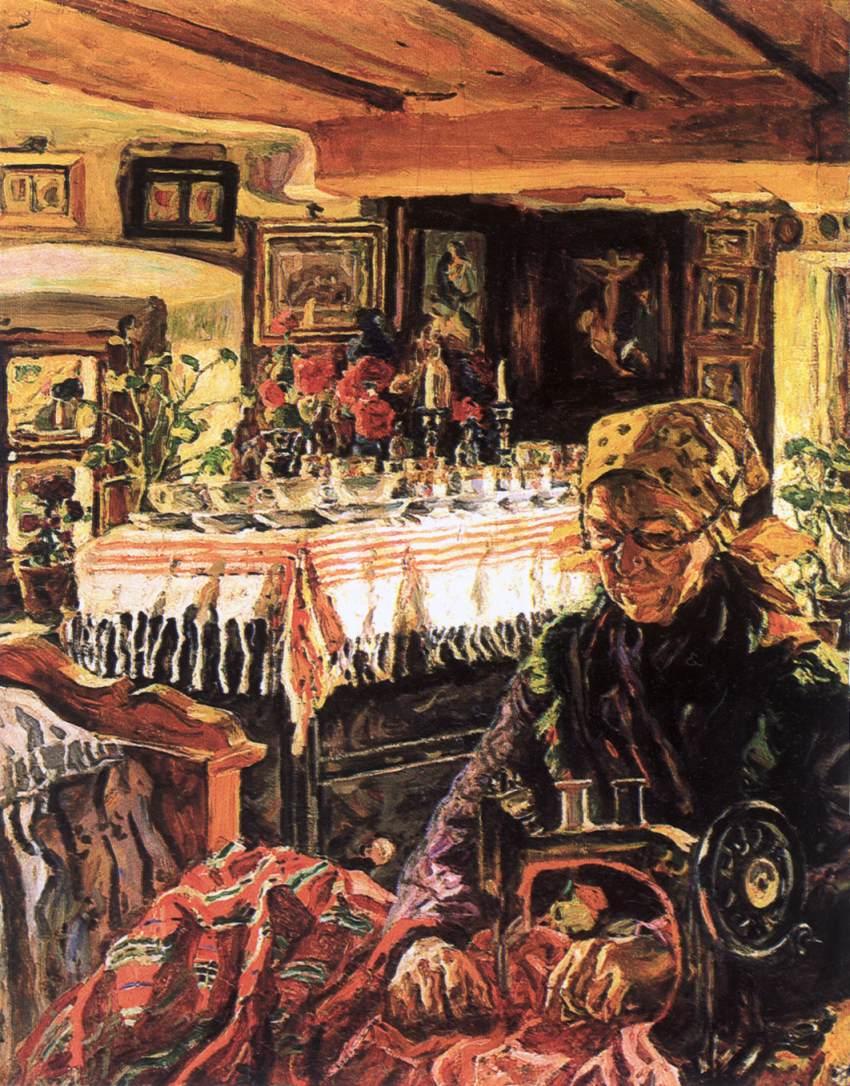 Rakospalota Seamstress | Izsak Perlmutter | Oil Painting