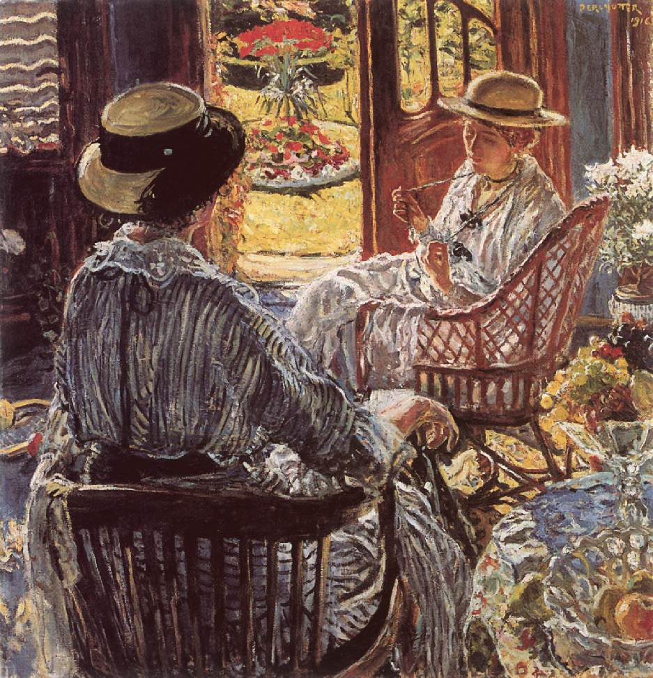 On the Terrace 1916 | Izsak Perlmutter | Oil Painting