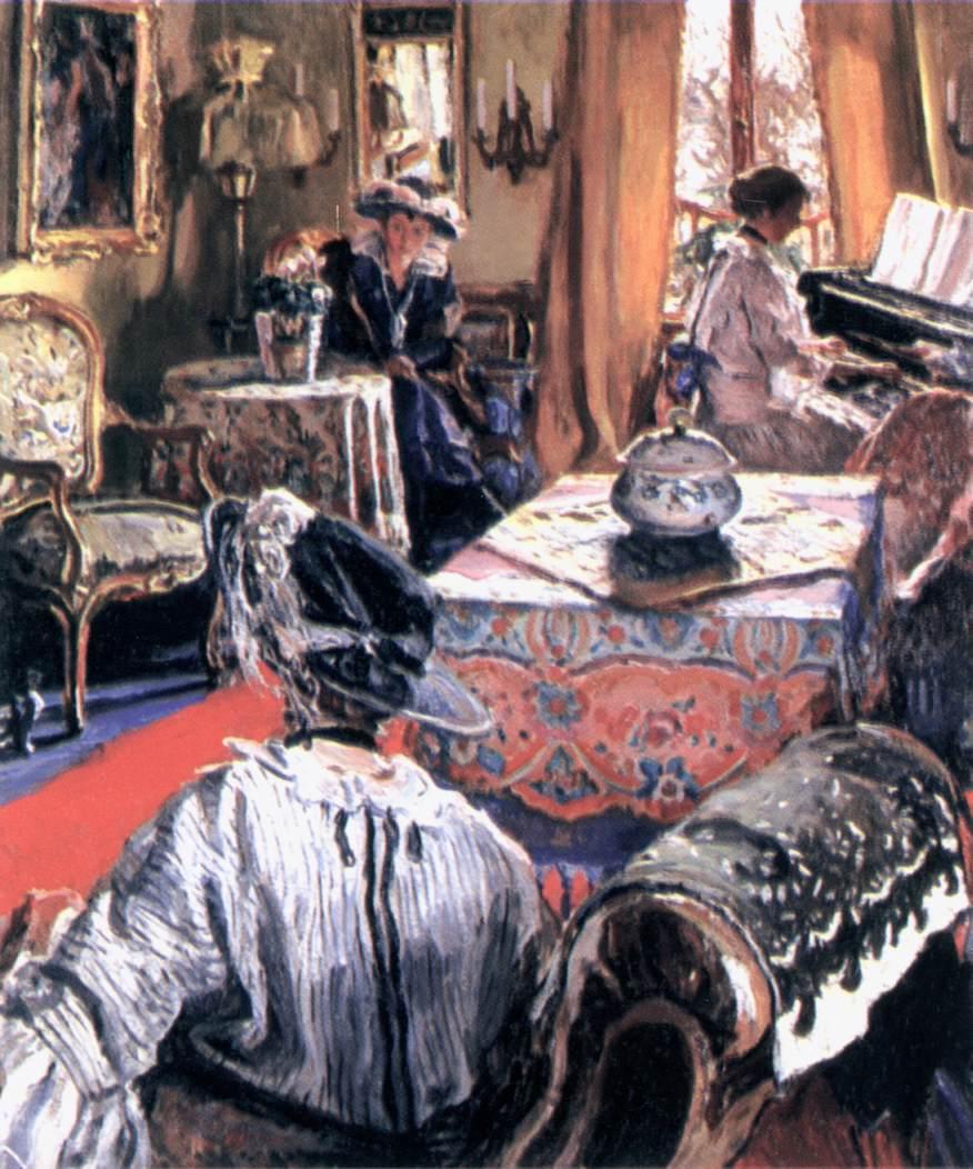 In the Salon | Izsak Perlmutter | Oil Painting