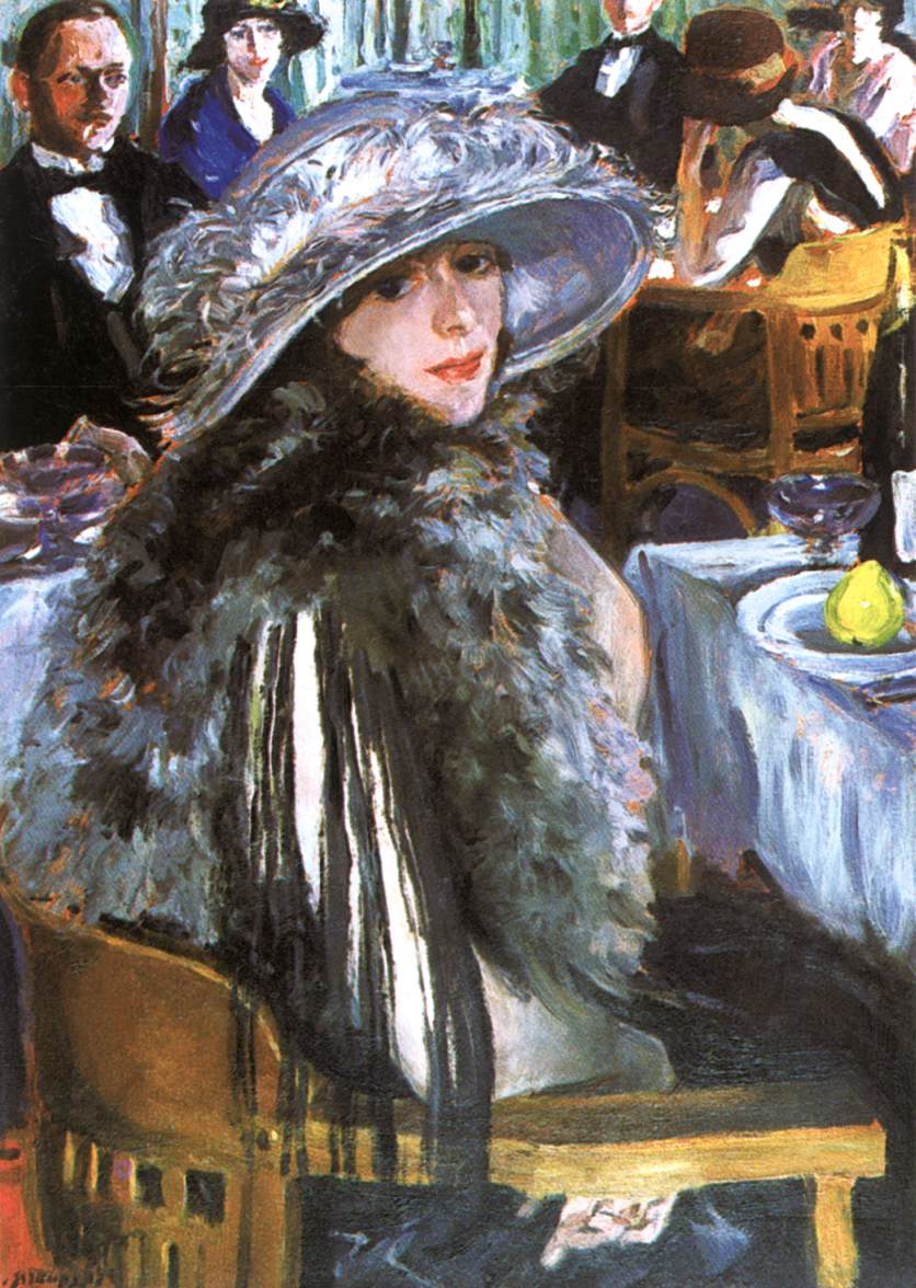 In the Bar 1926 | Izsak Perlmutter | Oil Painting
