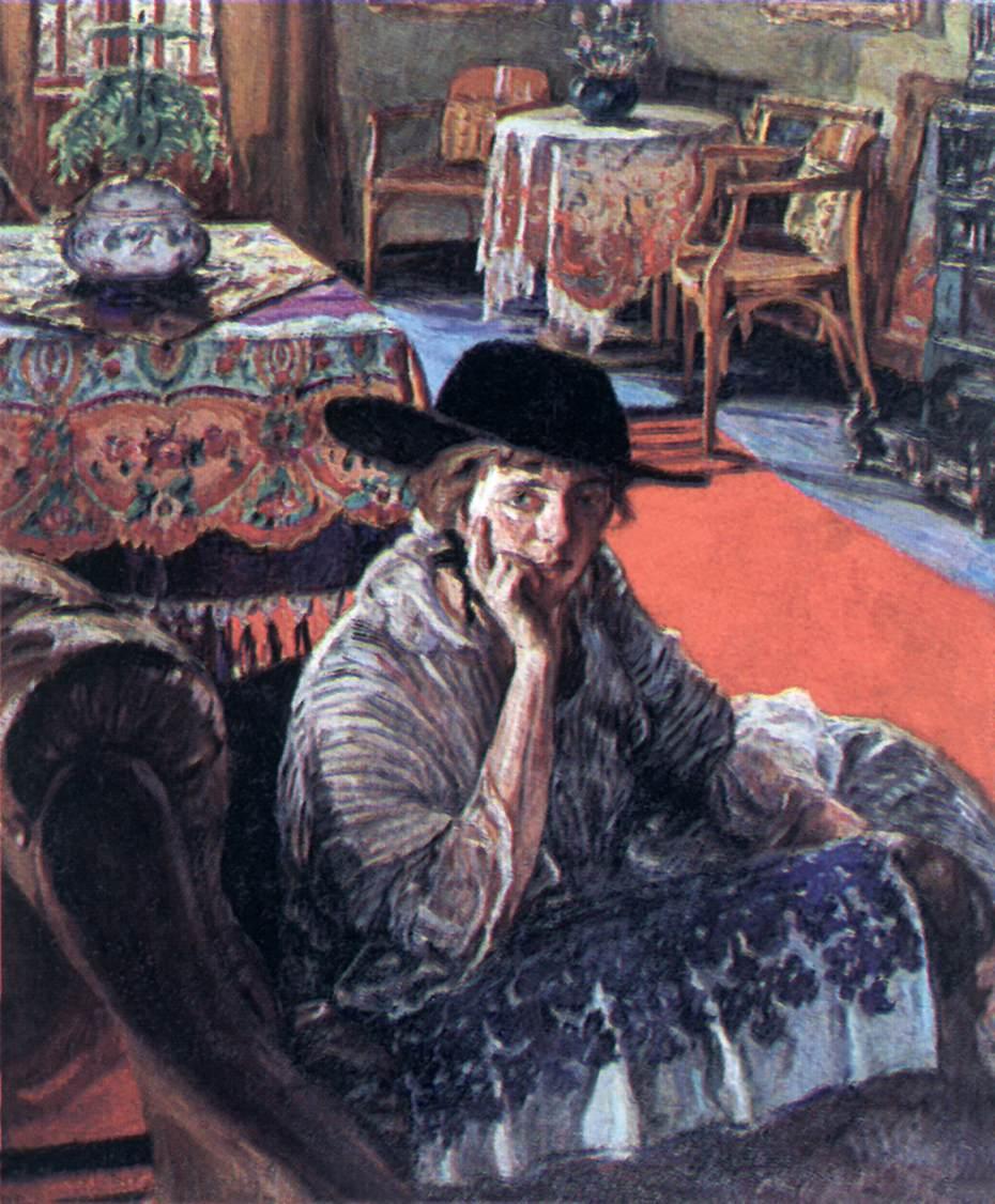 Cleo in the salon 1916 | Izsak Perlmutter | Oil Painting