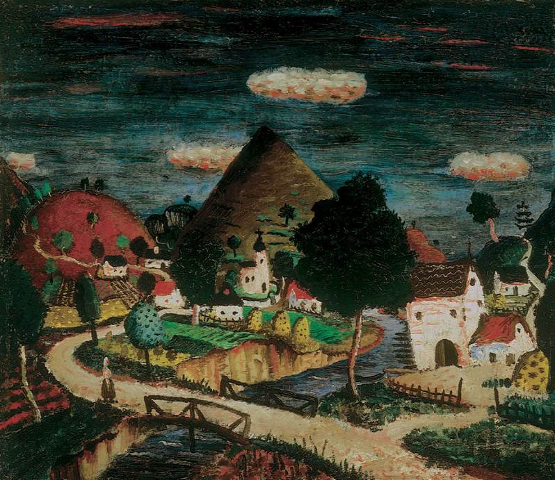 Village 1930 | Istvan Pekary | Oil Painting
