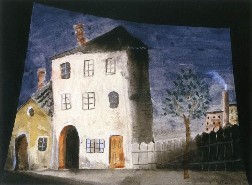 Scenery Design 1942   Istvan Pekary   Oil Painting