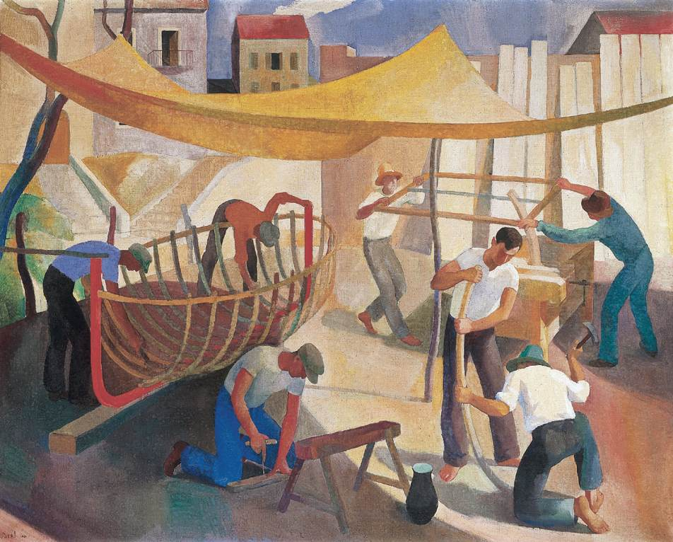 Workers 1930 | Karoly Patko | Oil Painting