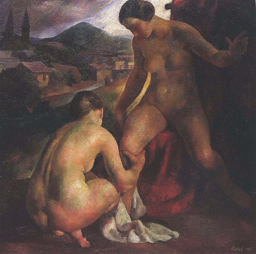 Women Bathing 1926 | Karoly Patko | Oil Painting
