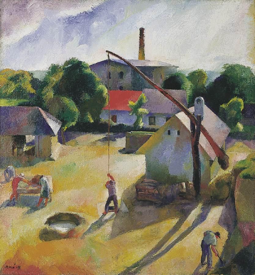 Village Scene (Igal) 1927 | Karoly Patko | Oil Painting