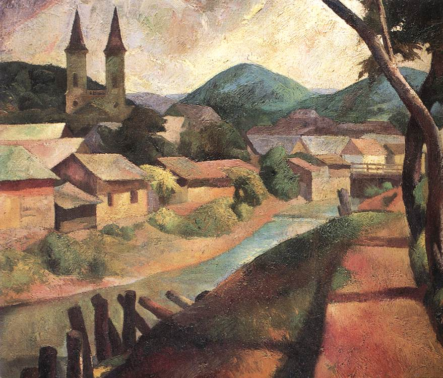 View of Felsobanya 1925 | Karoly Patko | Oil Painting