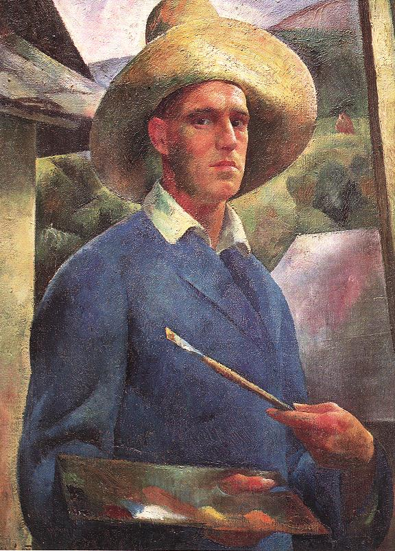 Self Portrait with Hat (The Painter at Work) 1925 | Karoly Patko | Oil Painting