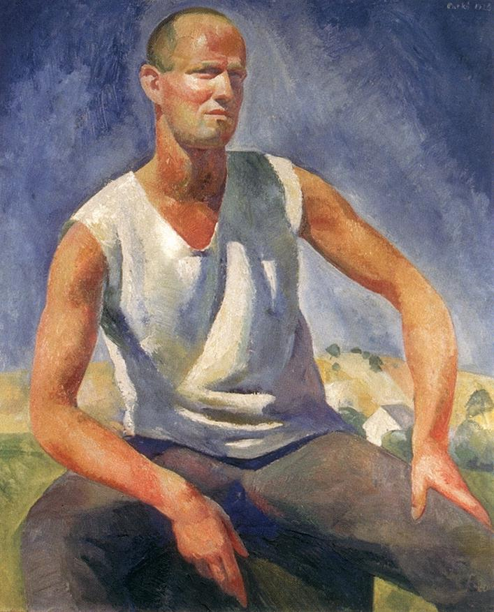 Self portrait 1928 | Karoly Patko | Oil Painting