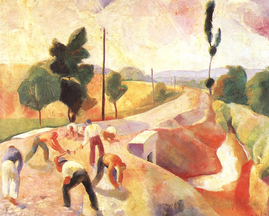 Road Construction 1928 | Karoly Patko | Oil Painting