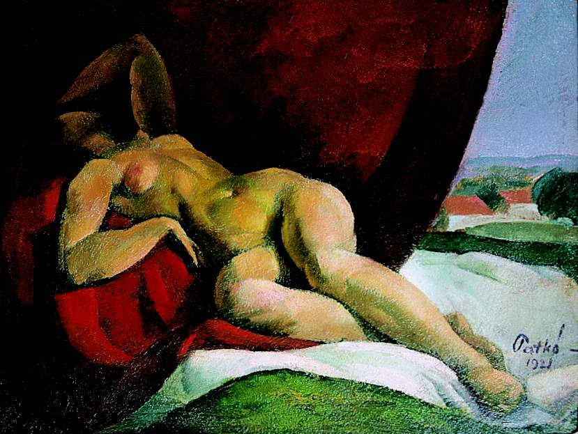Reclining Nude (Study for the Siesta) 1921 | Karoly Patko | Oil Painting