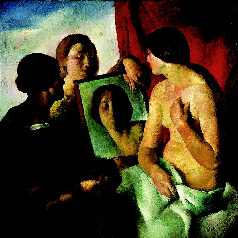 In Front of a Mirror 1923 | Karoly Patko | Oil Painting
