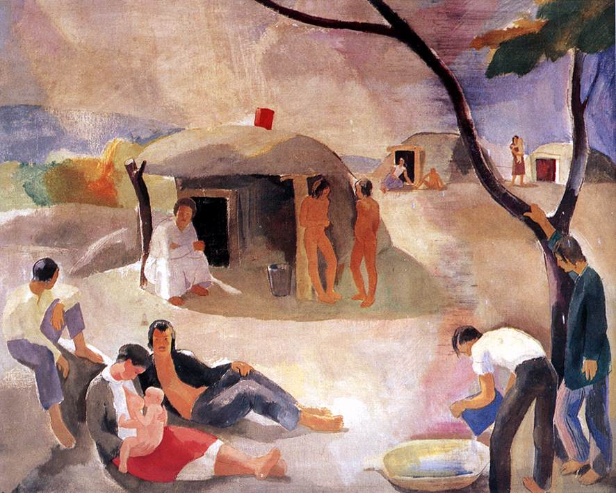 Gipsies 1932 | Karoly Patko | Oil Painting