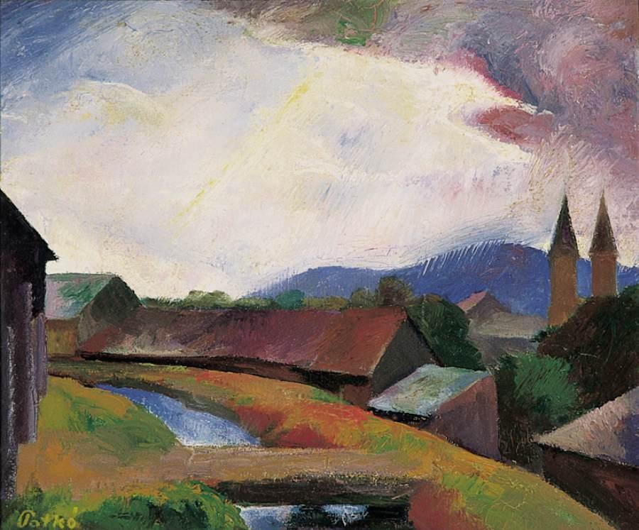 Felsobanya Landscape 1925 | Karoly Patko | Oil Painting