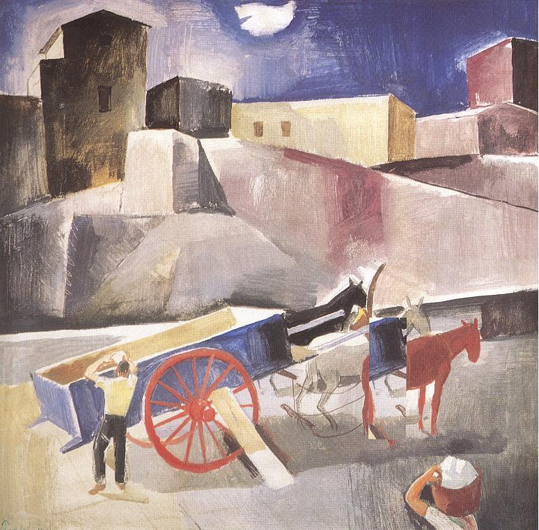 Cart jade 1931 | Karoly Patko | Oil Painting
