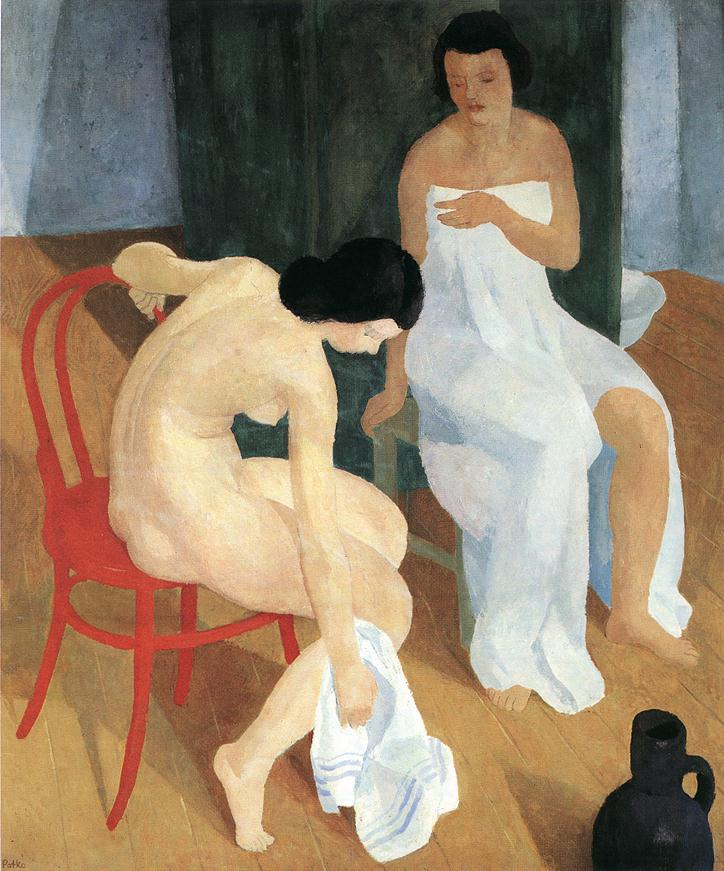 Bathing in the Morning 1930s | Karoly Patko | Oil Painting