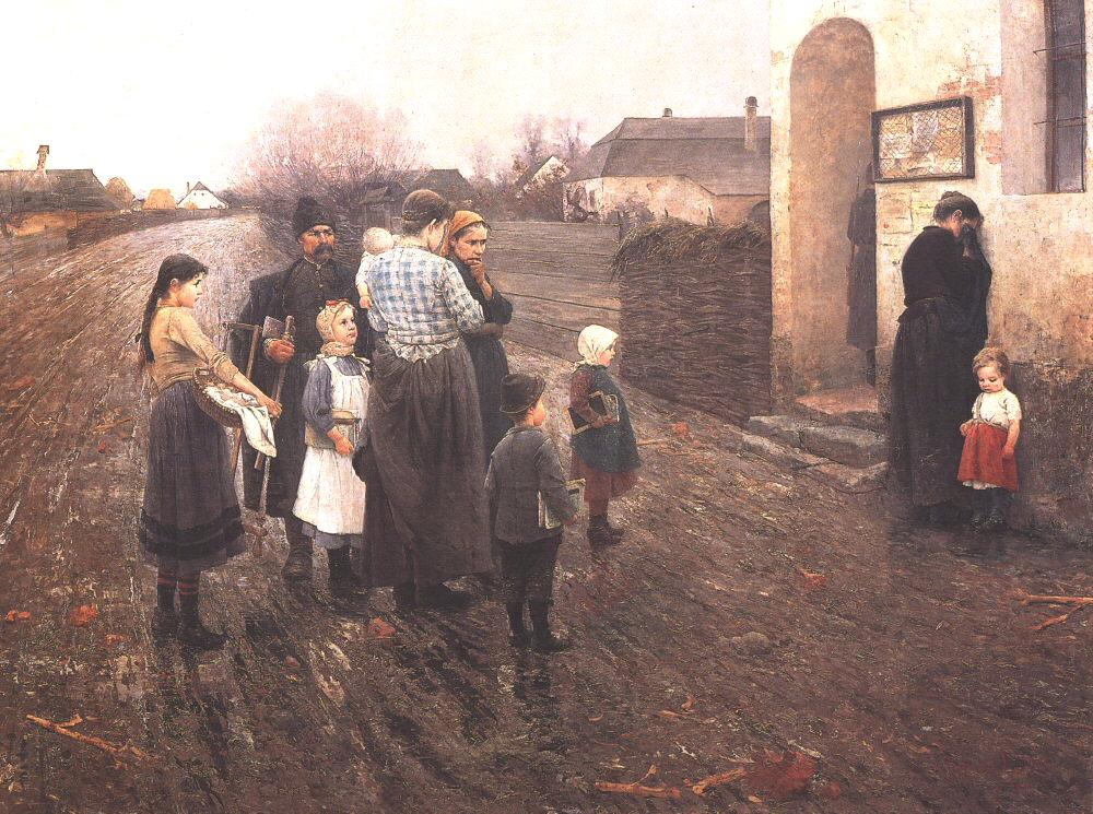 The Interrogation 1897   Laszlo Pataky   Oil Painting