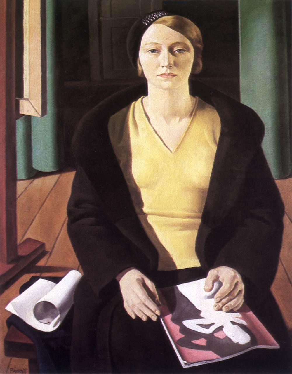 Portrait of a Woman 1932   Lajos Pandy   Oil Painting