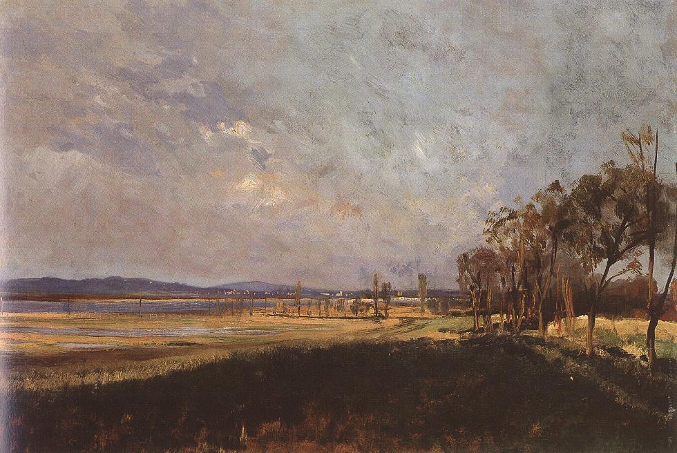 The Lake Velence 1880s | Bela Pallik | Oil Painting
