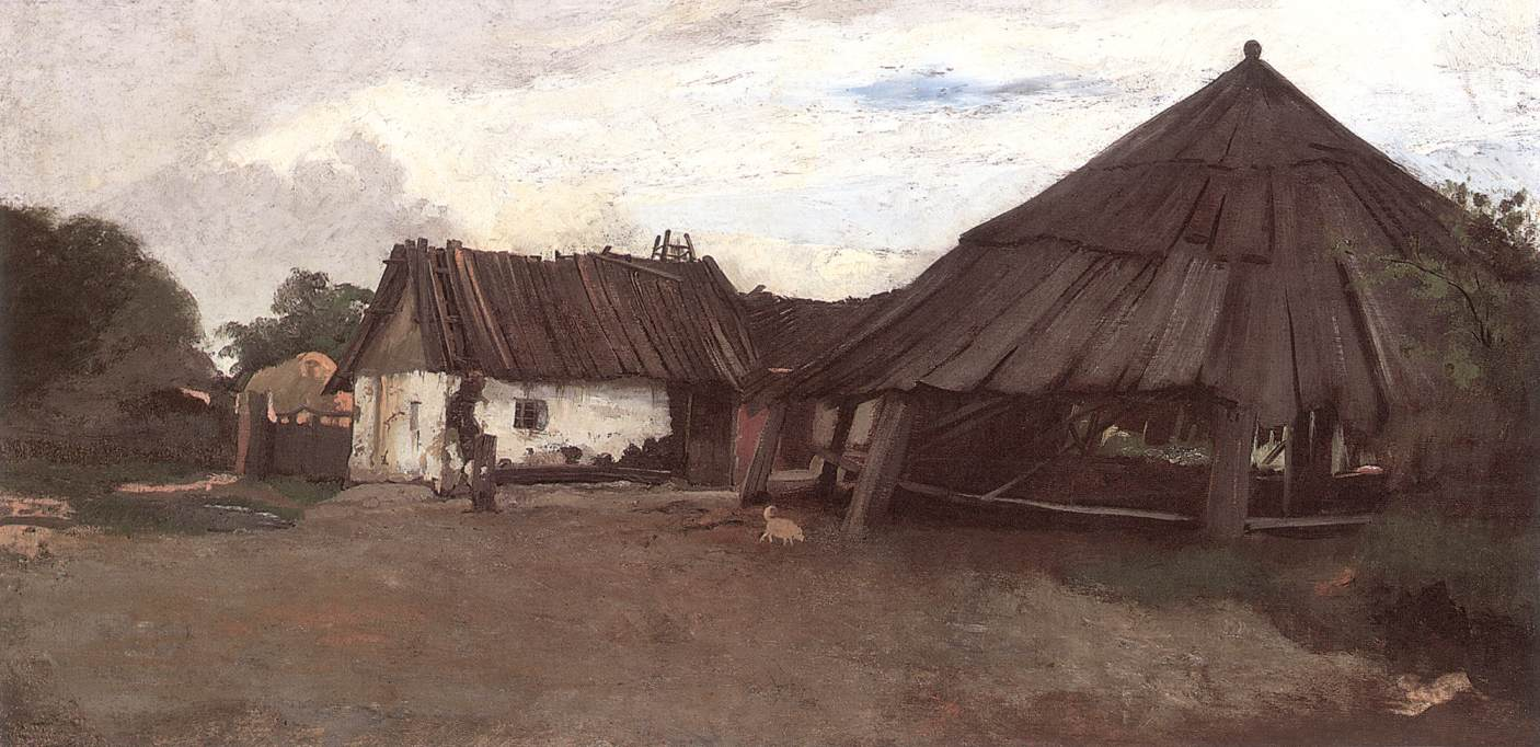 The Dry Mill at Atyas | Bela Pallik | Oil Painting