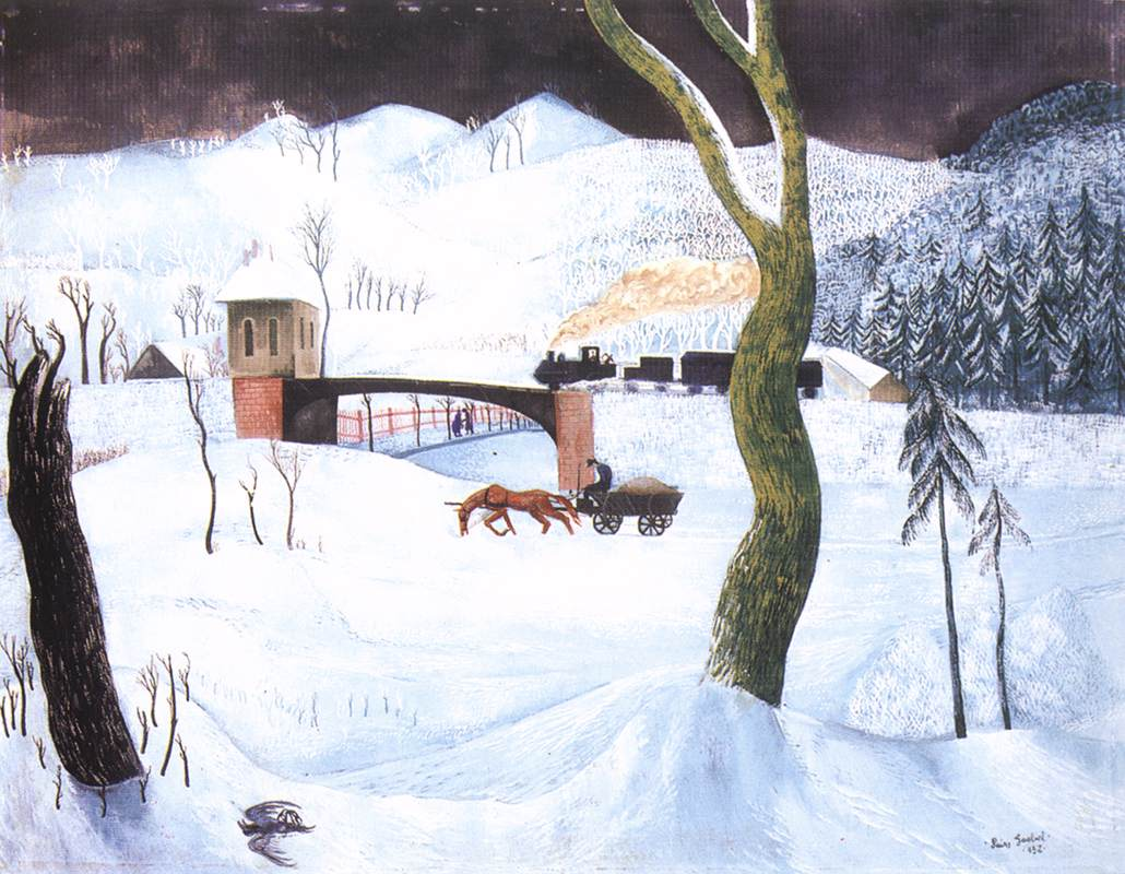 Winter 1932 | Jeno Goebel Paizs | Oil Painting