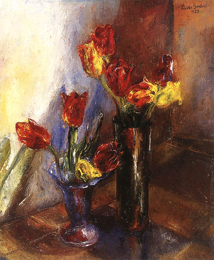 Tulips 1928 | Jeno Goebel Paizs | Oil Painting