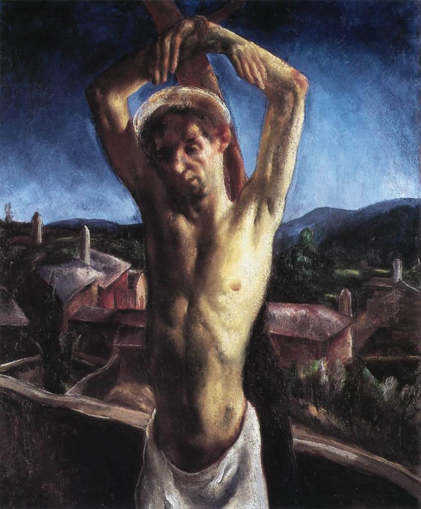 St Sebastian 1927 | Jeno Goebel Paizs | Oil Painting