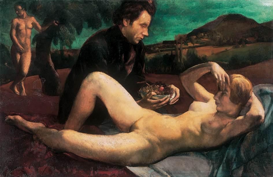 Painter and Model (Venus) 1923 | Jeno Goebel Paizs | Oil Painting