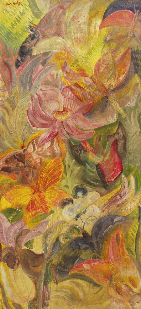 Butterflies (In the Jungle) 1933 | Jeno Goebel Paizs | Oil Painting