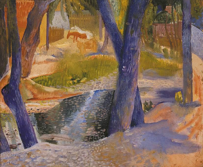 Bank of the Stream 1934 | Jeno Goebel Paizs | Oil Painting