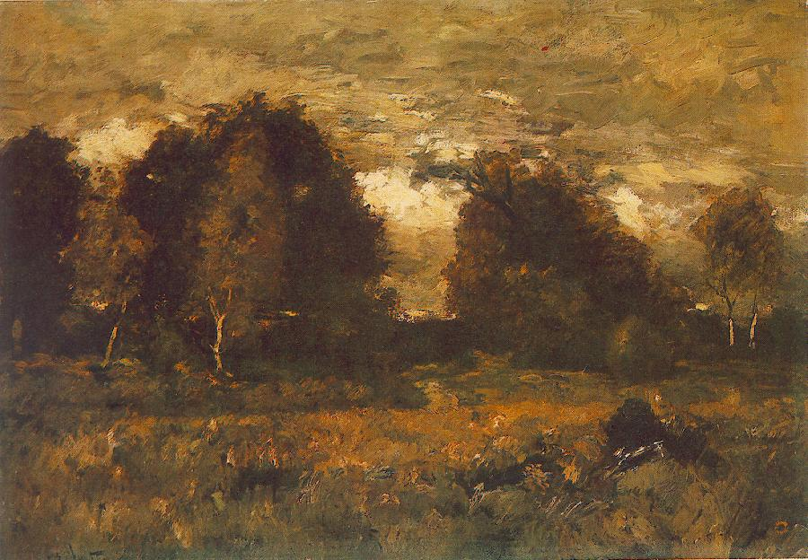 Stormy Landscape 1875   Laszio Paal   Oil Painting