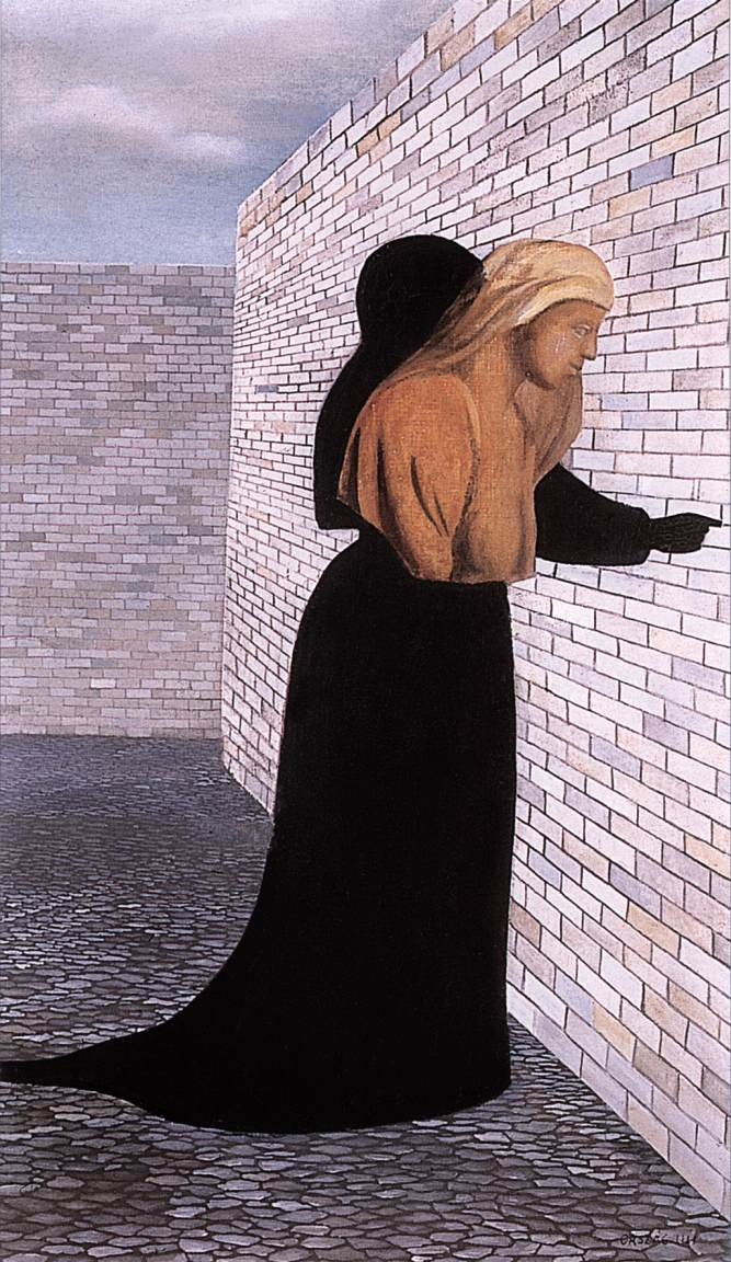 Woman in Black Robe 1956 | Lili Orszag | Oil Painting