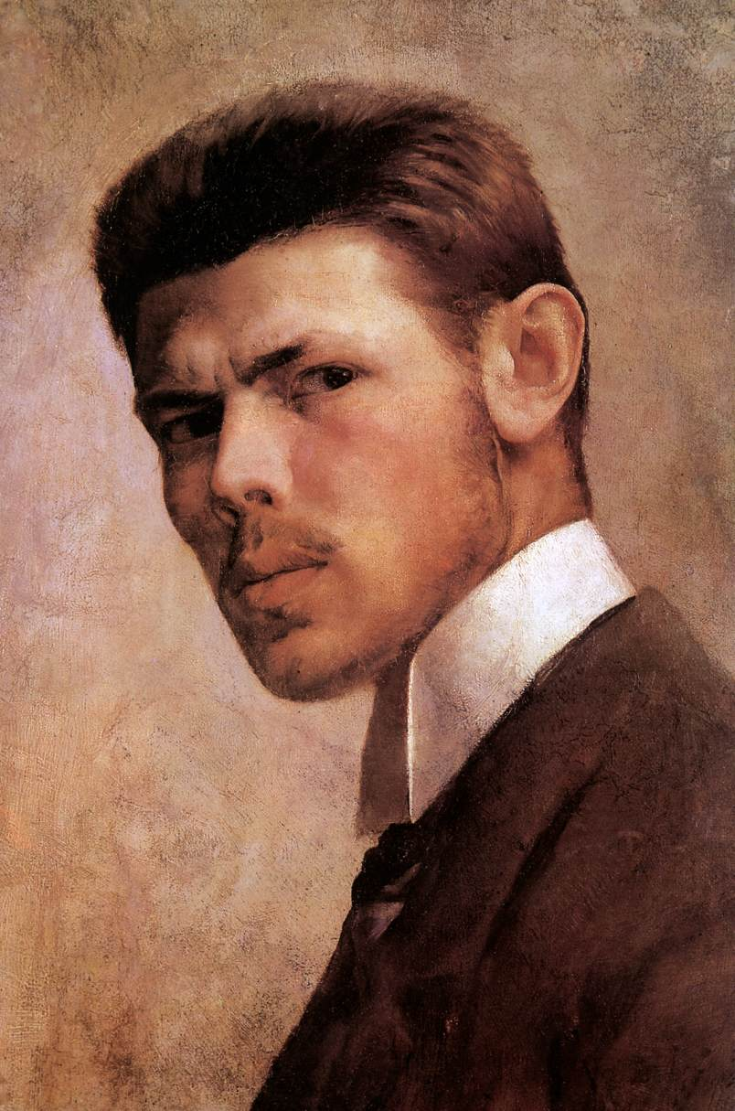 Self portrait 1887 | Janos Vaszary | Oil Painting