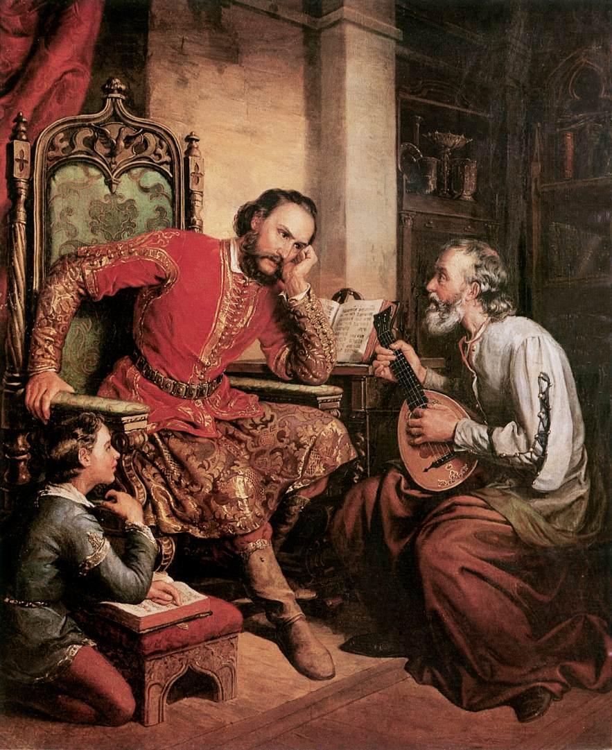 Palatine Tamas Nadasdy and Tinodi 1855 | Soma Petrics Orlai | Oil Painting
