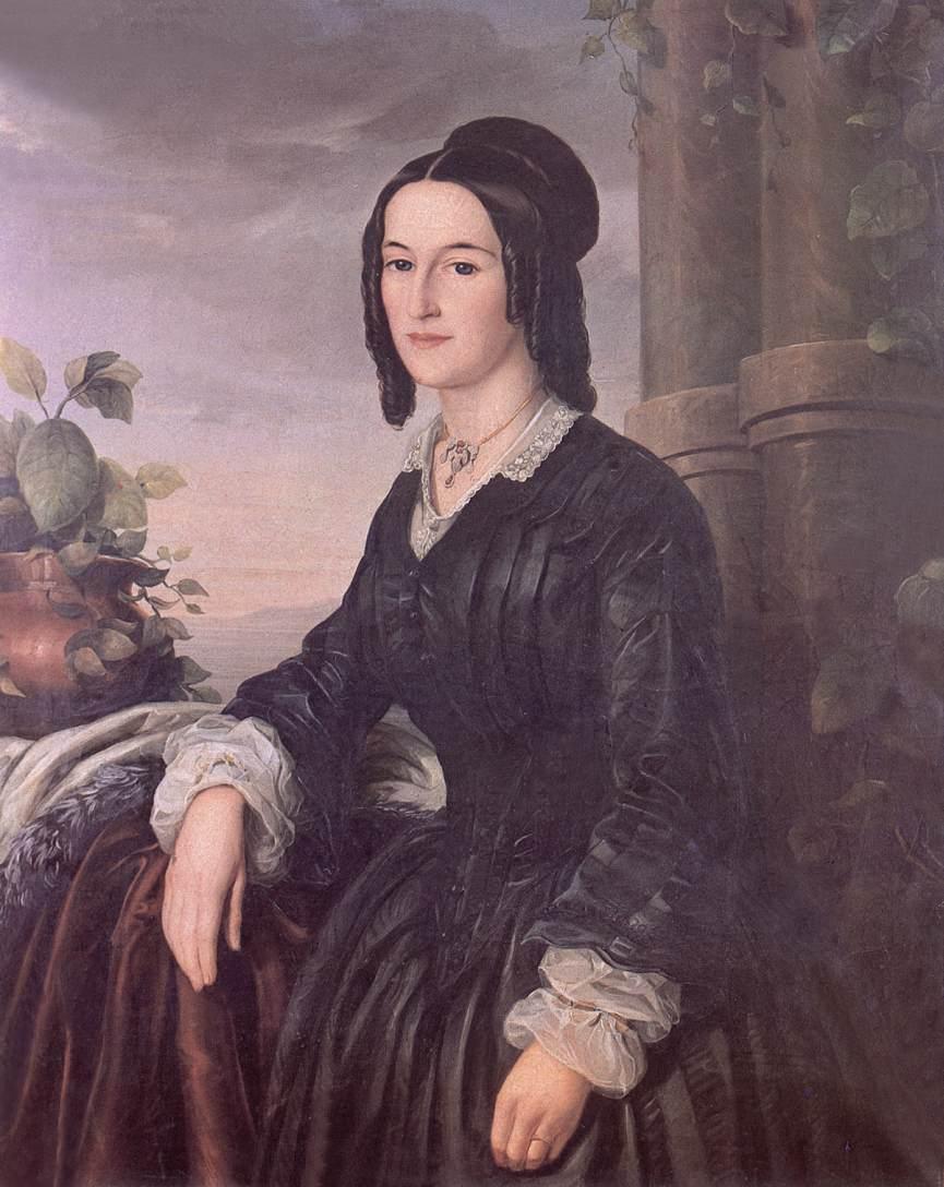 Ms Antal Vilmos Rickl nee Johanna Kis-Orban 1852 | Soma Petrics Orlai | Oil Painting