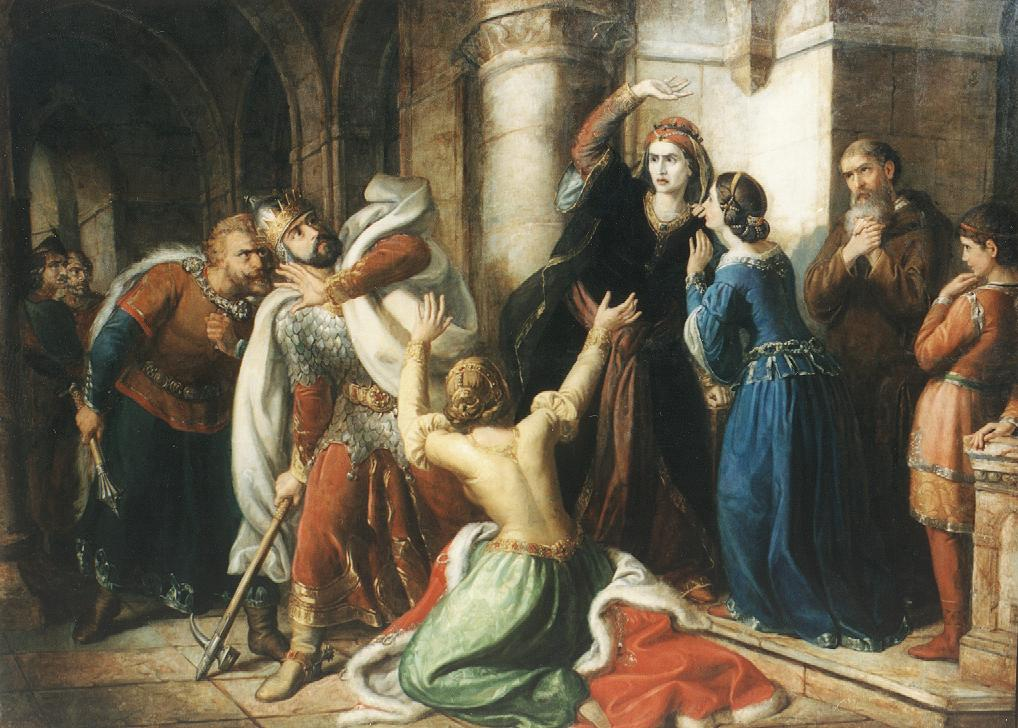 King Salomon Being Cursed by his Mother 1857 | Soma Petrics Orlai | Oil Painting