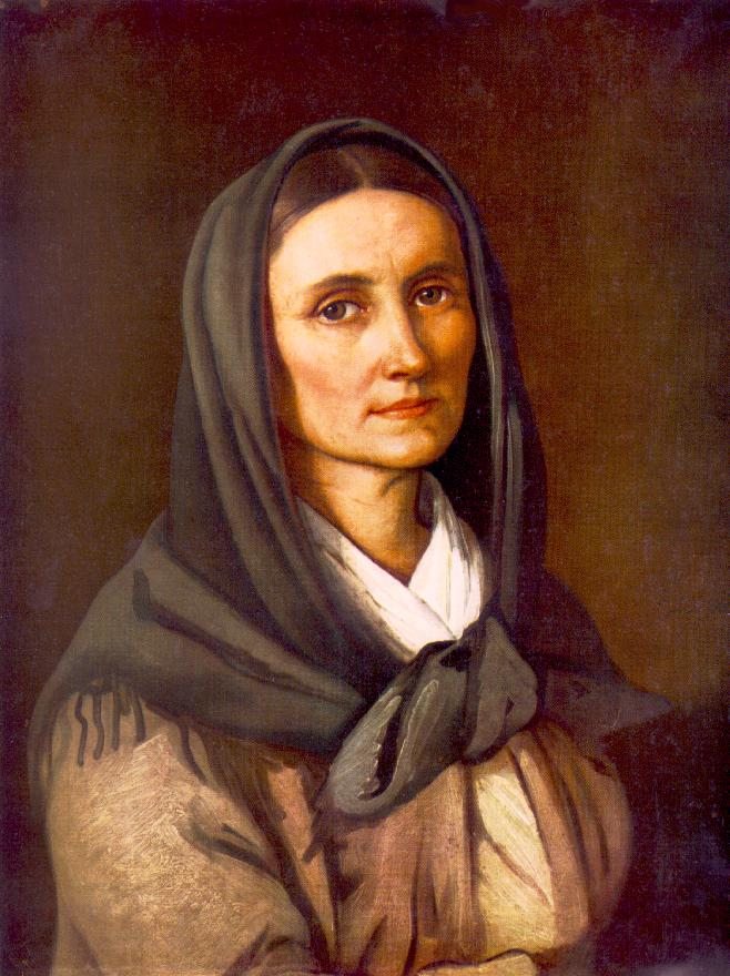 Portrait of the Artist's Mother beginning of the 1850s | Soma Petrics Orlai | Oil Painting