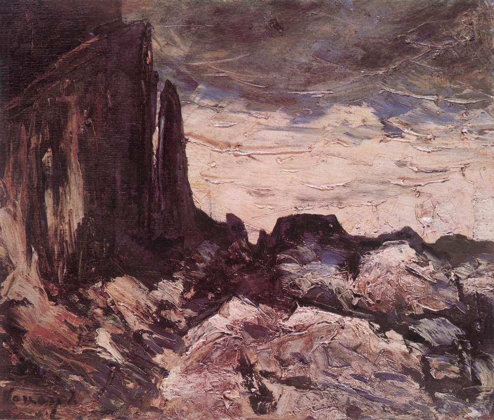 Rocky Landscape c 1920 | Janos Vaszary | Oil Painting