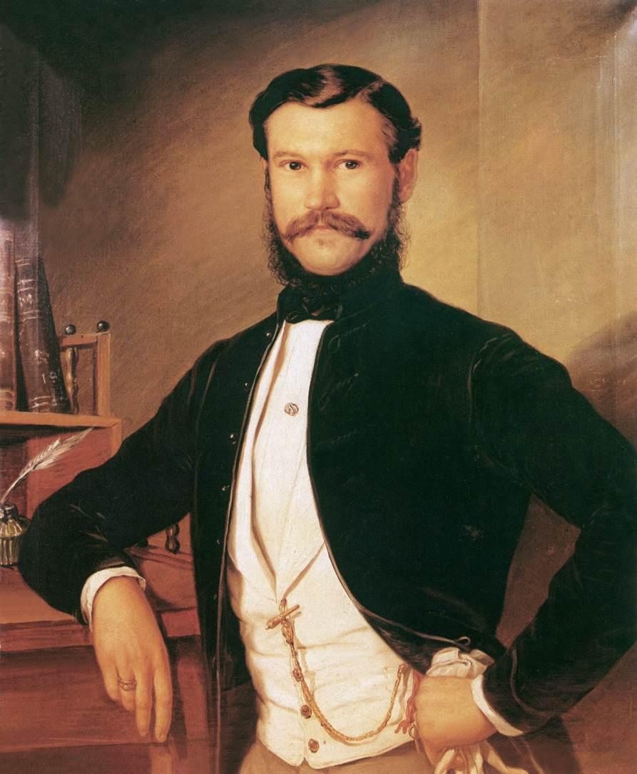 Portrait of Dobosy Lajos 1855 | Soma Petrics Orlai | Oil Painting