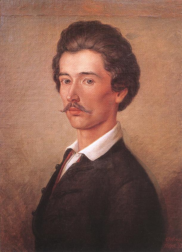 Poet Sandor Petofi 1840s | Soma Petrics Orlai | Oil Painting