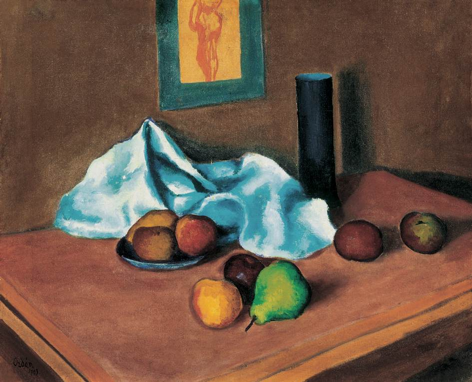 Still life with Green Pear 1909 | Dezso Orban | Oil Painting