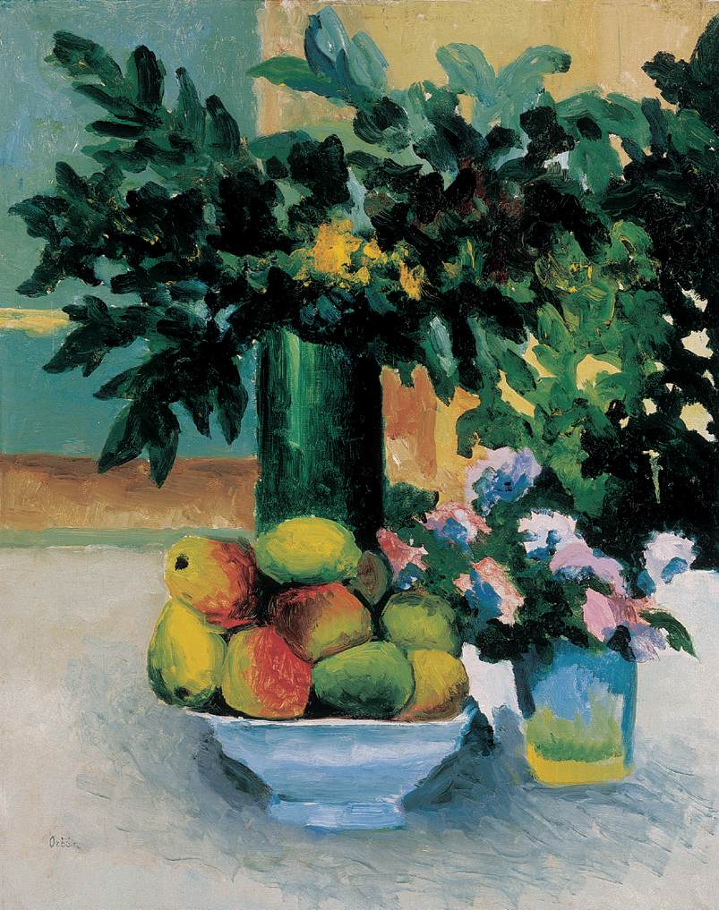 Still life with Apples and Flowers 1908 | Dezso Orban | Oil Painting