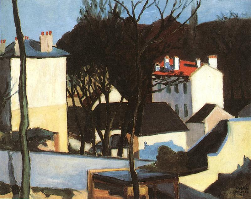 Landscape in Charenton 1908 | Dezso Orban | Oil Painting