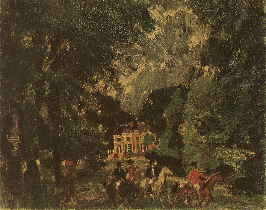 Riders in the Park 1919 | Janos Vaszary | Oil Painting