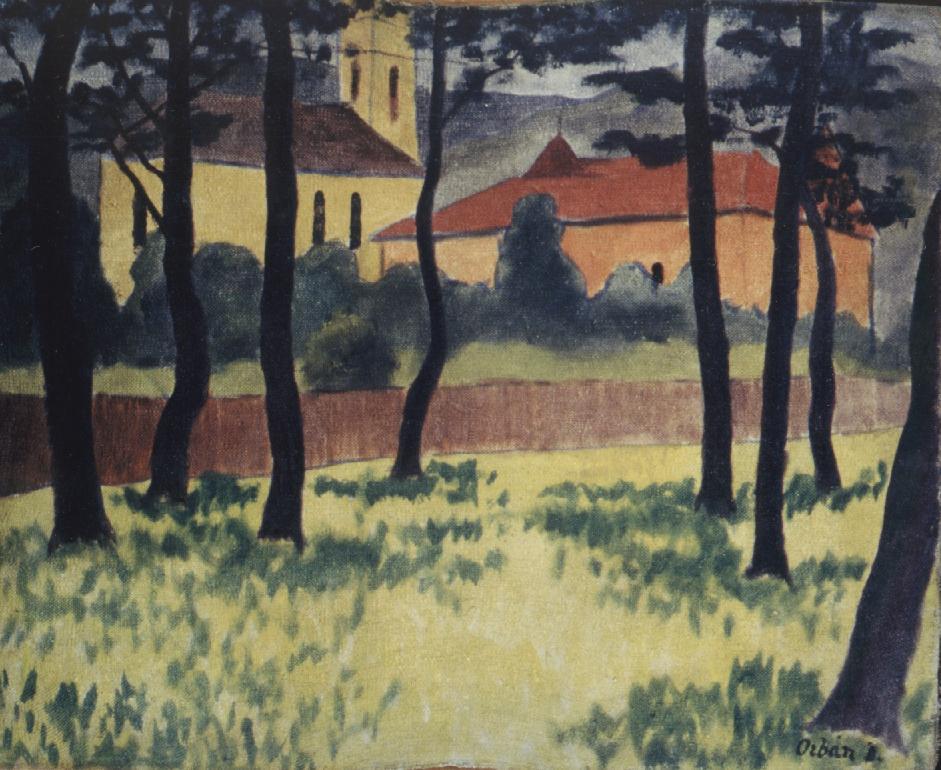 Garden of a Church 1908 | Dezso Orban | Oil Painting