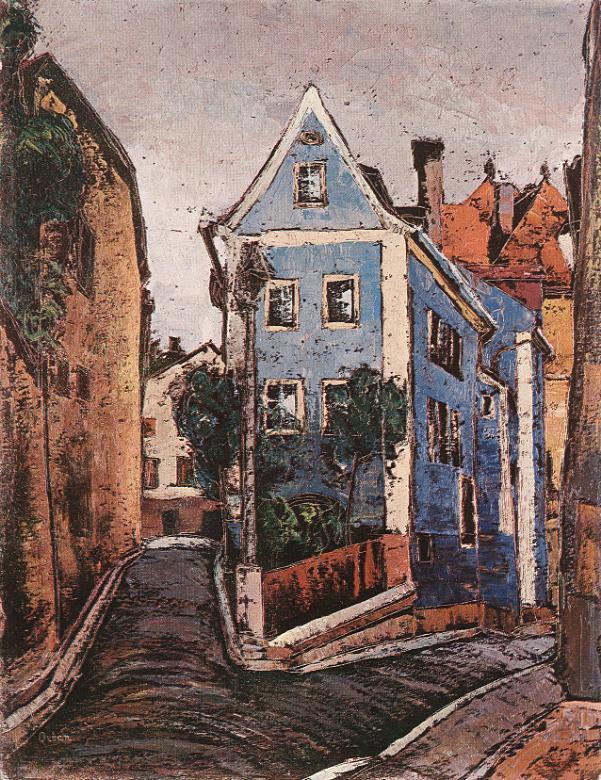 Street at Passau | Dezso Orban | Oil Painting