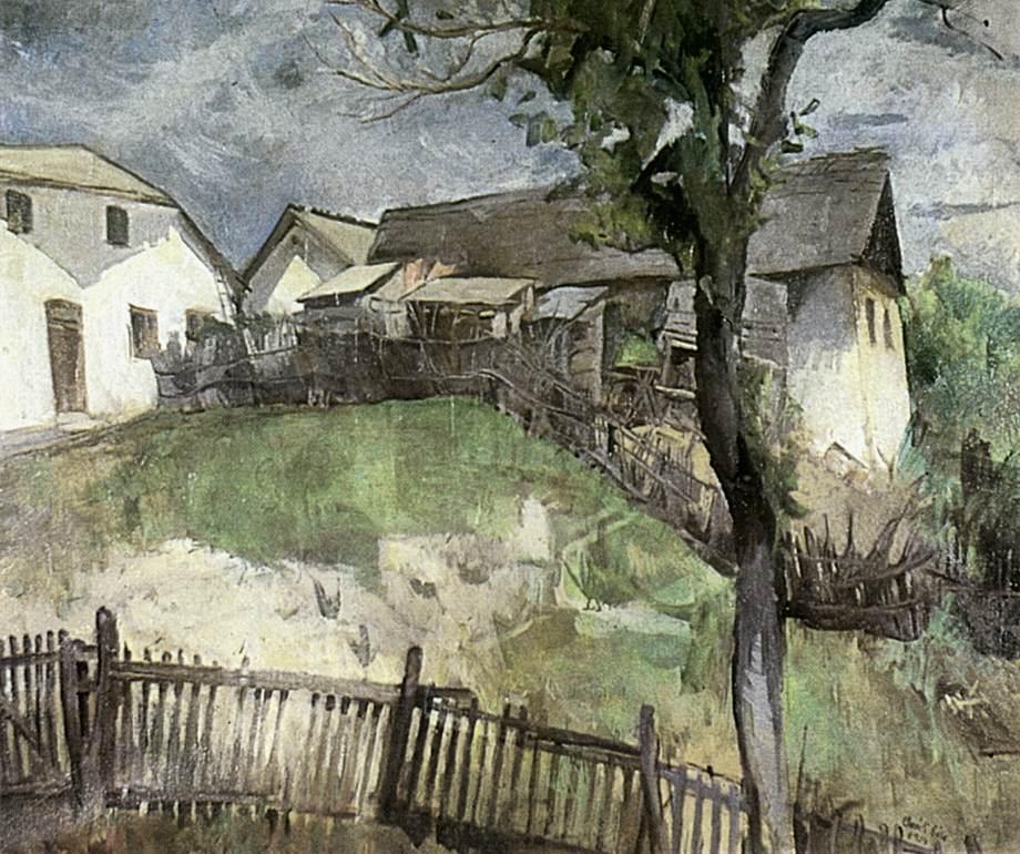 Road to the Hill Szamarhegy 1934   Bela Onodi   Oil Painting