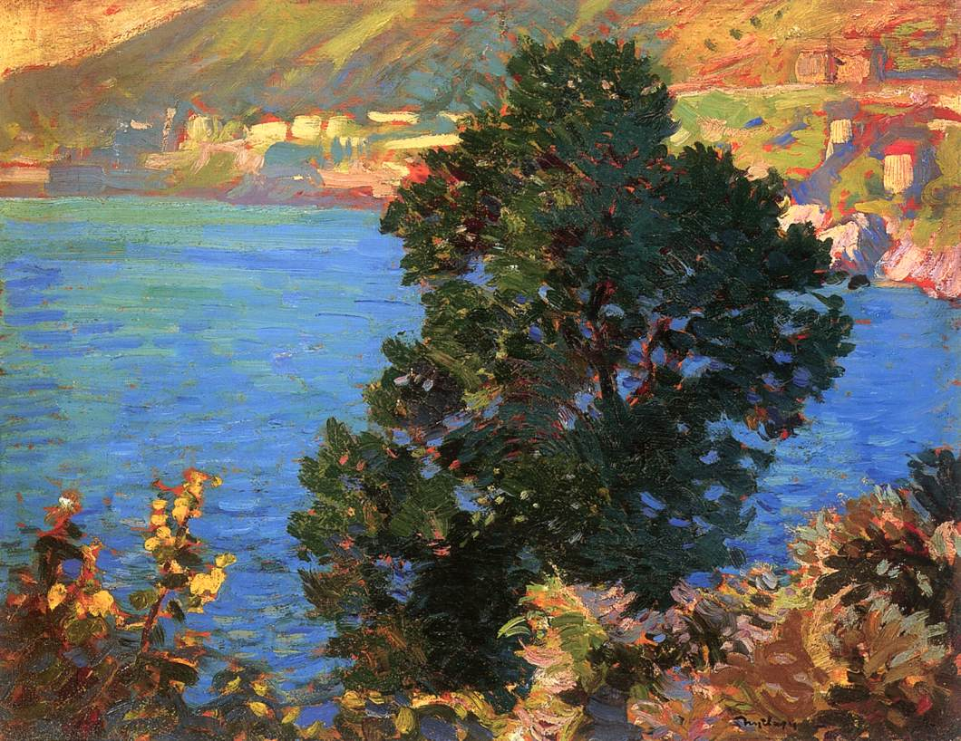 Olive Tree at the Seaside | Sandor Nyilasy | Oil Painting