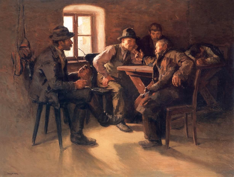 Conversation | Sandor Nyilasy | Oil Painting
