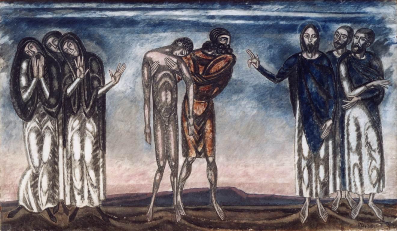 Resuscitation of Lazarusn 1912 | Janos Vaszary | Oil Painting
